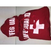 24 Units of Lifeguard Red Unisex Hoodie - Mens Sweat Shirt