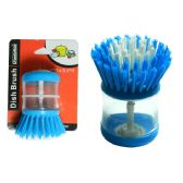144 Units of Dish Brush With Soap Dispenser - Cleaning