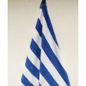 24 Units of Economy Cabana Stripe Blue 30x60 Beach Towel