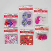 108 Units of Party Favor Valentine 6asst 2-8pks Valentine Polybag Header Ring/whistle/maze/top/puzzle/glss