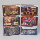 24 Units of Puzzle 500pc Artist Collection 6 Asst Puzzle Size 18.25 X 11 - PUZZLES