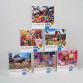 18 Units of Puzzle 1000pc Colorluxe Boxed 6 Assorted In Case - PUZZLES