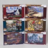 24 Units of Puzzle 1000pc Artist Collection 6 Assorted Puzzle Size 23 X 16 - PUZZLES