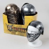 48 Units of Helmet Knight Silver Or Copper Plastic In 24pc Pdq W/sticker - Costume Accessories