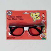 48 Units of Glasses Funny Nerd Black Frame Blister Card