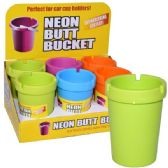 48 Units of Butt Bucket Counter Display Neon Top - Ashtrays(Plastic/Glass)