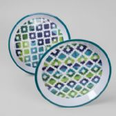 36 Units of Serving Tray Melamine Quatrefoil Blue 11.75in 2ast Prints - Tray