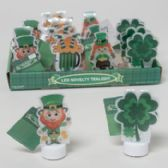64 Units of Led Tealight St Pat Novelty 4ast Icons Color Change 16pcpdq St Pat Hangtag - St. Patricks