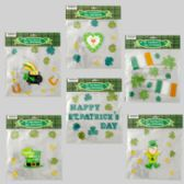 96 Units of Gel Stickers St Patricks 6asst Designs St Pat Polybag/hdr - St. Patricks