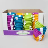 48 Units of Salsa Bowl 2pk Plastic In Pdq 4 Summer Colors 1.5oz Each - Plastic Bowls and Plates