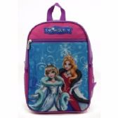 "24 Units of TOON STUDIO IN SNOW QUEEN CHARACTER - Backpacks 15"" or Less"