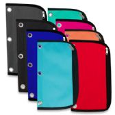 96 Units of 3 RING BINDER PENCIL CASE - 8 COLORS - Clipboards and Binders