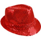 72 Units of KIDS RED SEQUIN FEDORA HAT