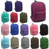 "Wholesale 36 Units of 17"" Backpacks In 17 Colors"