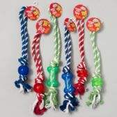 84 Units of Dog Toy Rope/rubber Tug Chews 3 Styles 3 Colors - PET ACCESSORIES
