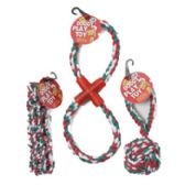 48 Units of Dog Toy Christmas Rope Chews 3 Assorted In Pdq - Pet Accessories