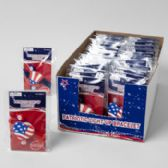 48 Units of Bracelet Patriotic Light-up 2ast Hat Or Heart Flagprint 48pc Pdq Poly - 4th Of July