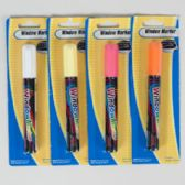 72 Units of Marker Window/car 1pk 4ast Clrs 3 Neons/1 White-blister Card 0.176oz - MARKERS/HIGHLIGHTERS