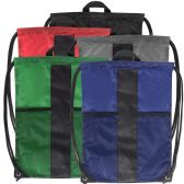 48 Units of Adventure Trails Drawstring Backpack - 5 Colors - Draw String & Sling Packs