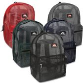 24 Units of Trailmaker 17 Inch Mesh Backpack - 5 Colors - Backpacks 17""