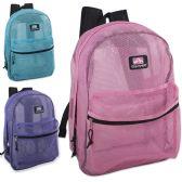 "24 Units of Trailmaker 17 inch Mesh Backpack - Girls - Backpacks 17"""