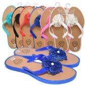 48 Units of Ladies Slippers Flowers Assorted