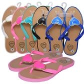 48 Units of Ladies Slippers Heart Assorted