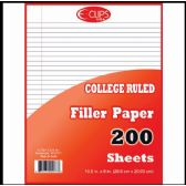 36 Units of Filler Paper, 200 Count, College Ruled - Paper