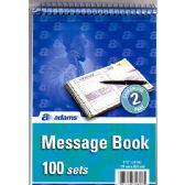 "30 Units of ADAMS Message Book Carbonless 2 Part 100 Sets (5 1/2""x 8 1/16"")"