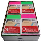 "48 Units of Neon Scratch Pads, 4""x6"", 3 Pk, 2 Displays of 24 per Carton - Sketch, Tracing, Drawing & Doodle Pads"