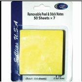 "60 Units of Peel & Stick Notes, 3""x3"", 50 Sheets Each, 7 Pk., Yellow - Sticky Note/Notepads"
