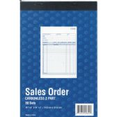 "60 Units of Sales Order Book, Carbonless, 5 9/16"" x 8 7/16"", 30 Sets , 60 Sheets - Sales Order Book"