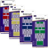 48 Units of Binder clips, 8pk, asst. sizes, asst. colors - Clipboards and Binders