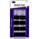 48 Units of Binder clips, 8pk, black - Clips and Fasteners