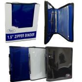 "12 Units of Zipper binder 1.5"" + zipper pouch, navy, black and grey - Clipboards and Binders"