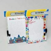 24 Units of Magnetic Dry Erase Board in 2ast Styles - MEMO/NOTES/DRY ERASE