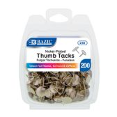 24 Units of Nickel (Silver) Thumb Tack (200/Pack) - Push Pins and Tacks