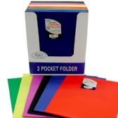 60 Units of 2 Pocket No Holes Poly Folder Trendy in display