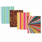 48 Units of 2 Pocket Folders, Abstract Designs, in Display - Folders and Report Covers