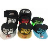 48 Units of Wholesale Snap Back Flat Bill Sorry I'm Hip Hop Assorted Colors - Hats With Sayings
