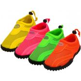 36 Units of Youth Neon Color Aqua Sock - Kids Aqua Shoes