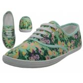 24 Units of Women's Print Canvas Shoes ( *Daisy Floral Printed ) - Women's Flats