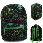 "24 Units of 17"" Padded Backpack In a Popular Owl Print"