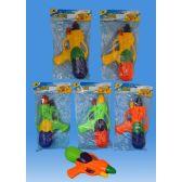 72 Units of 8 Water gun in PVC bag header card - Water Guns