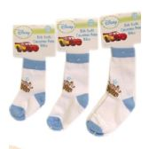 144 Units of Disney Cars Socks - Baby Apparel