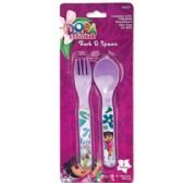 72 Units of DORA THE EXPLORER FORK AND SPOON - Baby Utensils