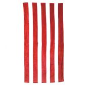 24 Units of Classic Cabana Stripe Beach Towel - Red - Beach Towels