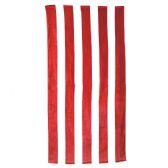 24 Units of Classic Cabana Stripe Beach Towel - Red