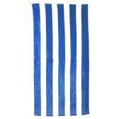 24 Units of Classic Cabana Stripe Beach Towel - Royal - Beach Towels