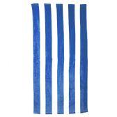 24 Units of Classic Cabana Stripe Beach Towel - Royal